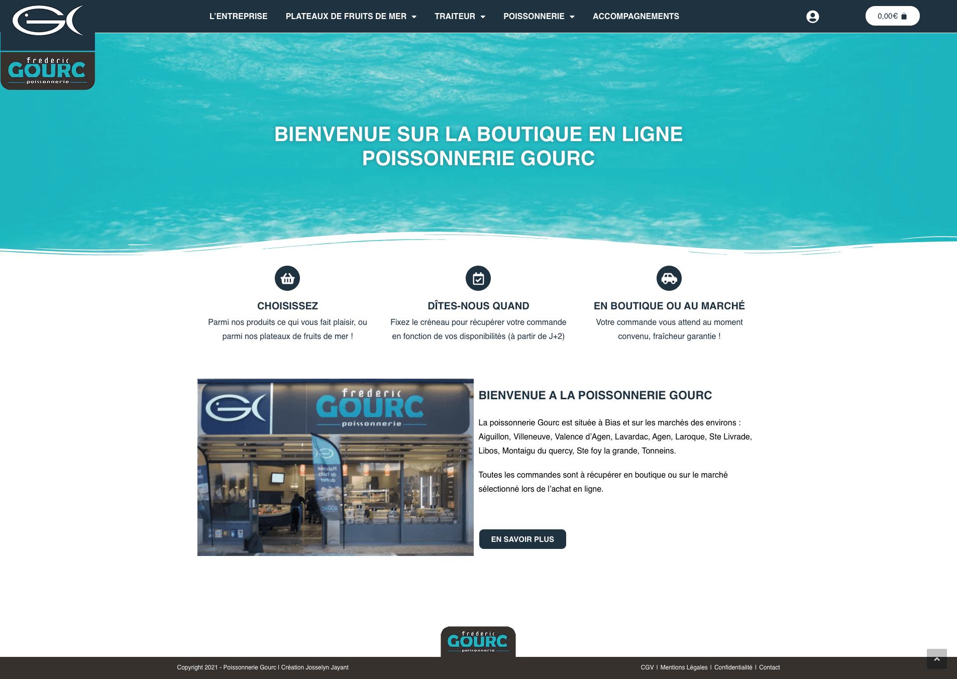création site internet poissonnerie